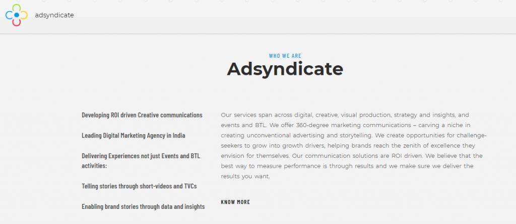 Adsyndicate: Digital marketing agency in Bangalore