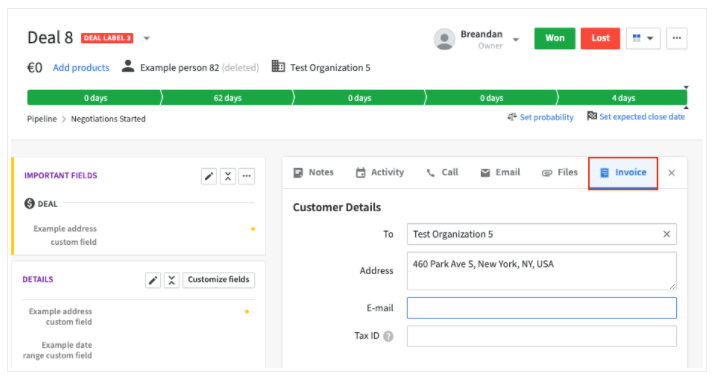 Pipedrive and Quickbooks Integration