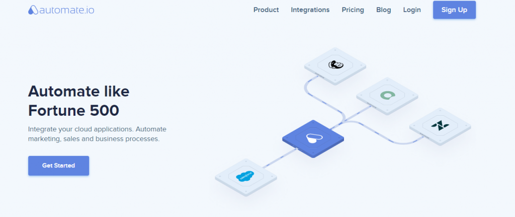 Automate.io - Integrate with your cloud apps
