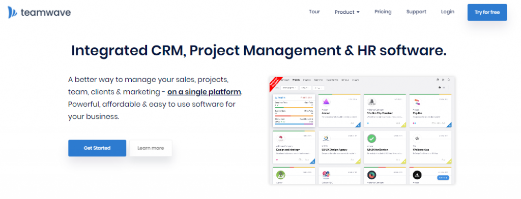 TeamWave: Integrated CRM, Project Management and HR Software