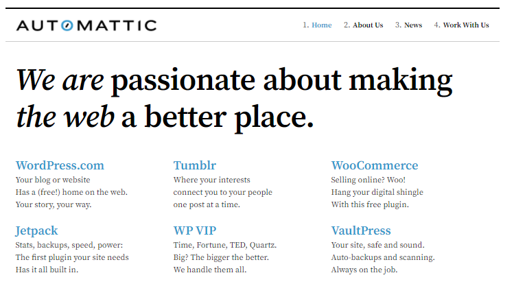 Automattic: Making the web a better place
