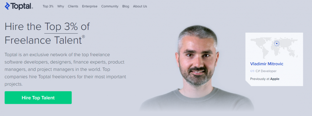 Toptal: Hire freelance talent from the top 3%