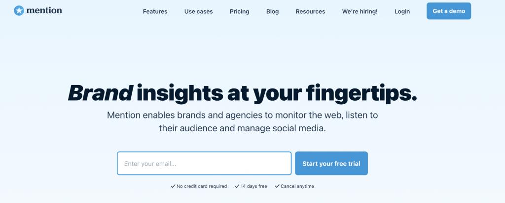 Mention Social Media Monitoring Tool