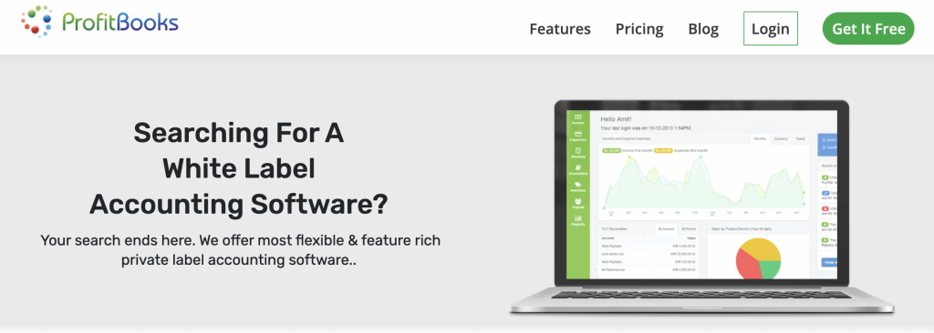 White Label Accounting Software : ProfitBooks