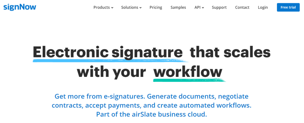SignNow: Esign PDF with electronic signature online