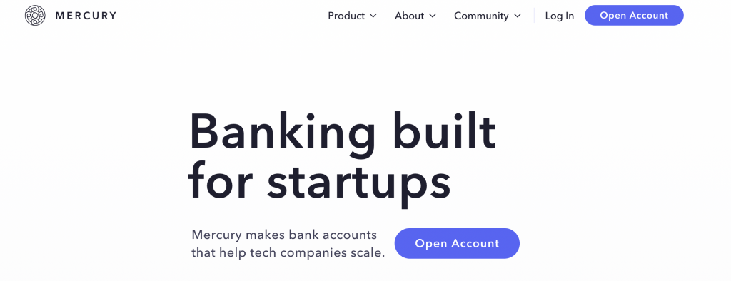 Mercury: Banking built for startups