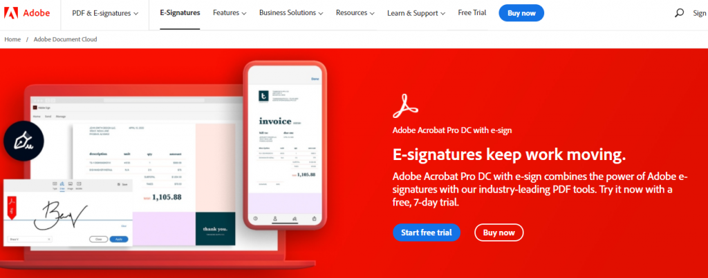 Adobe Sign: Secure e-sign solution to sign documents onine