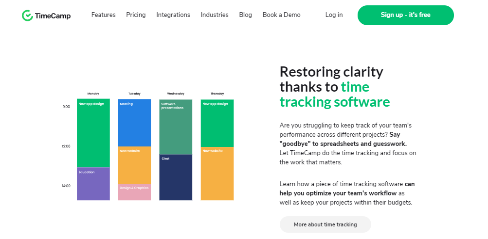 TimeCamp - Time Tracking App