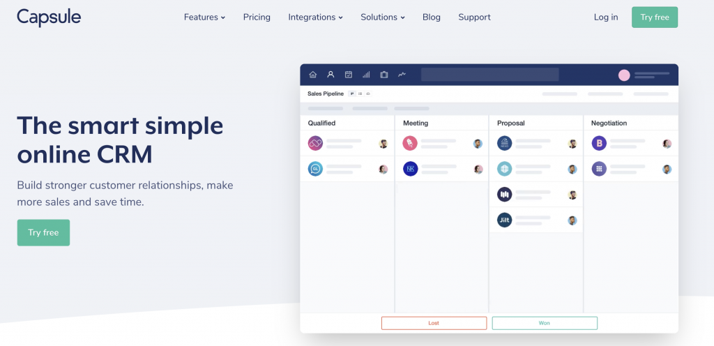 Capsule CRM: Simple and powerful